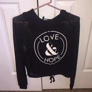 Love & Hope Black Net Hoodie H & M Divided